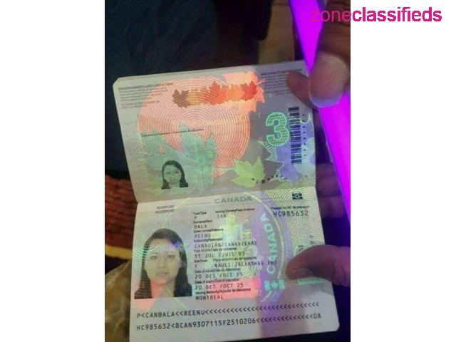 Canadian Passport and Driver's License - 1/8