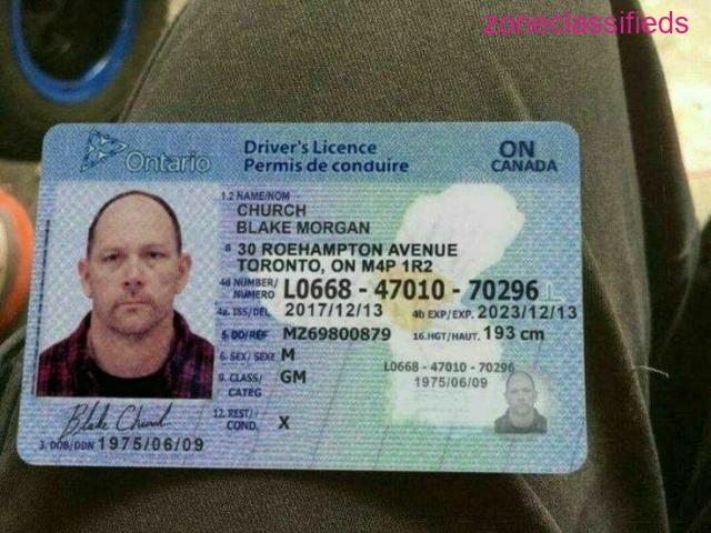 Canadian Passport and Driver's License - 5/8