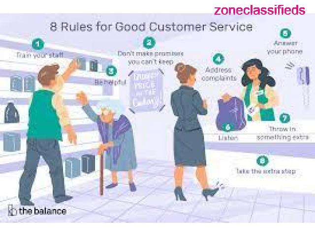 Customer Services Rep for good work - 1/1